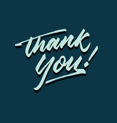 Thank you roughen script hand lettering typography vector