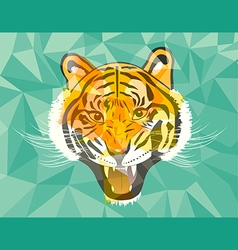 Tiger anger geometric style vector