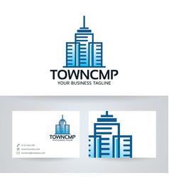 Town company logo design vector