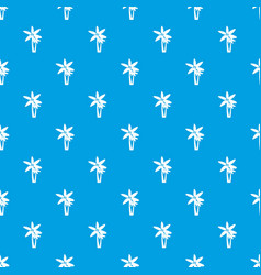 two palm trees pattern seamless blue vector image