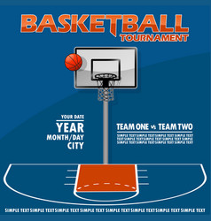 Variant of the poster for basketball tournament vector