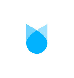 water drop flower logo icon vector image