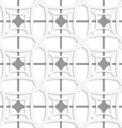White geometric ornament with gray net seamless vector image