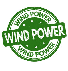 wind power sign or stamp vector image