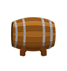 alcohol drink barrel cartoon flat style vector image