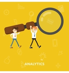 Business concept tool for business analytics vector