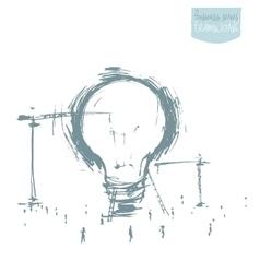 Construction big idea concept drawn sketch vector image vector image
