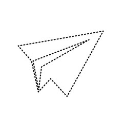 paper airplane sign black dashed icon on vector image vector image
