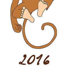 2016 Happy New Year of the Chinese Calendar Monkey vector image vector image