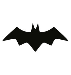 bat black silhouette isolated icon vector image