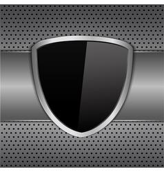 Black Shield vector image vector image