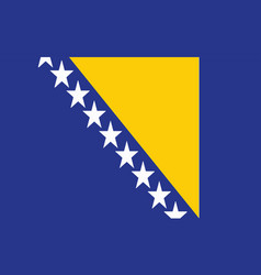 Bosnia flag - bosnia and herzegovina vector