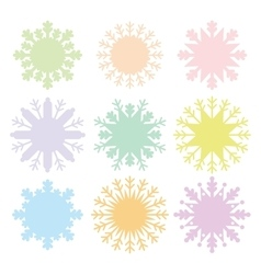 Christmas card design snowflake set blue mint vector image vector image