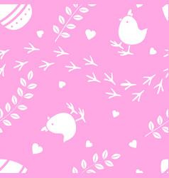 easter pink seamless pattern retro vintage design vector image