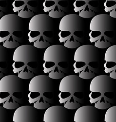 Lots of skulls vector image vector image