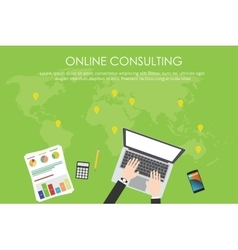 online consulting business vector image