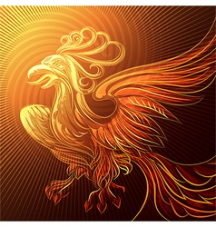 Phoenix in a flame vector image vector image
