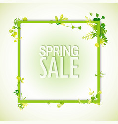 spring sale watercolor banner vector image vector image