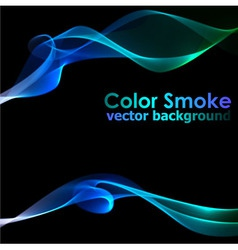 Abstract blue smoke background vector image vector image
