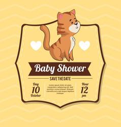 baby shower card invitation celebration vector image