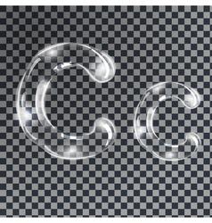 Bubbles letters C vector image vector image