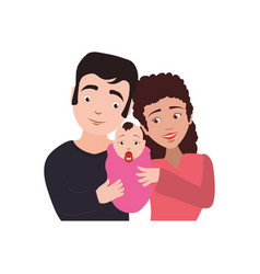 couples relationship family newborn vector image