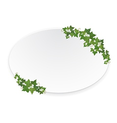 ellipse banner with ivy vector image vector image