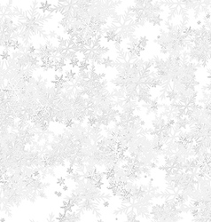 Frost Background with Snowflakes vector image vector image