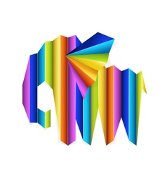 Multicolor elephant concept vector image vector image