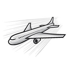 plane - airliner vector image
