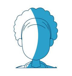 silhouette head female hair style modern vector image