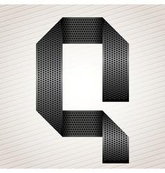 Letter metal ribbon - Q vector image vector image