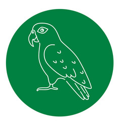 pionus parrot icon in thin line style vector image