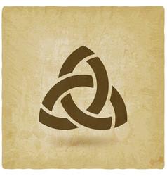 triquetra symbol old background vector image vector image