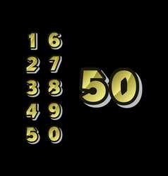 50 years anniversary celebrations set number vector