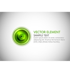 Abstract center point green text vector