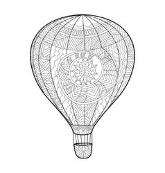 Aeronautic balloon coloring book for adults vector