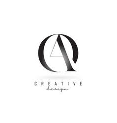 Ao a o letter design logo logotype concept vector