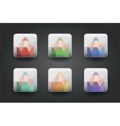 App icons pencil vector