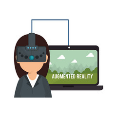 Augmented reality technology icon vector