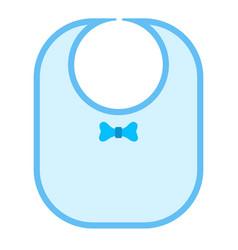 Baby bib icon vector