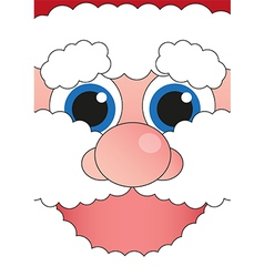 banner cheerful Santa Claus vector image