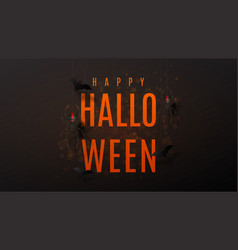 beautiful black greeting web banner for halloween vector image vector image