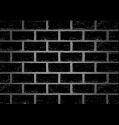 Black old brick background vector