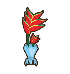 bouquet heliconia flower ornament image vector image