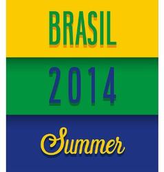 Brasil 2014 Summer vector
