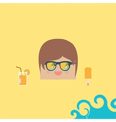 cartoon doodle businessman rectangle relaxing vector image