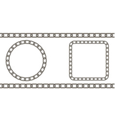 chain link pattern circle and square vector image