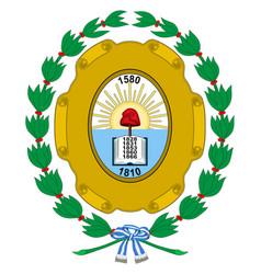 Coat arms santa fe de la vera cruz in of vector