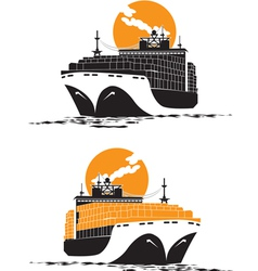 containership vector image